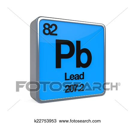 Drawing Of Lead Element Periodic Table K22753953 Search Clipart