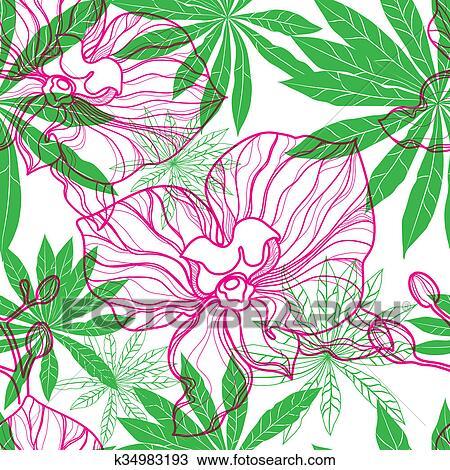 Padrao Com Flores Coloridas Desenho K34983193 Fotosearch