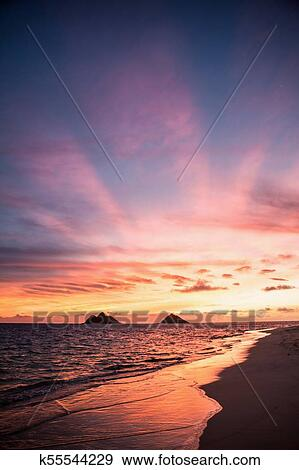 Sunrise At Lanikai Beach Stock Photo K55544229 Fotosearch