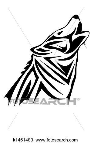 Dessin Tribal Loup K1461483 Recherchez Des Cliparts Des