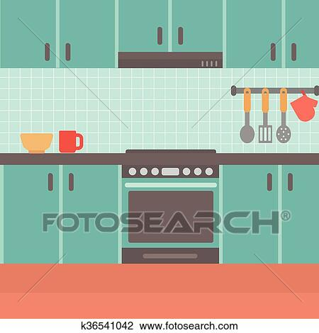 Background Of Kitchen Clipart K36541042 Fotosearch
