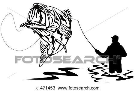Dessin p cheur attraper a basse k1471453 recherchez - Dessin pecheur ...
