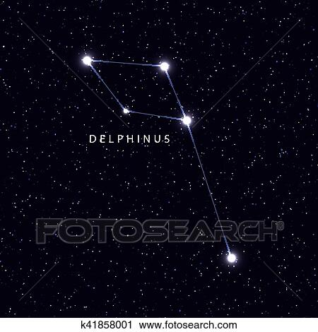 Star Map Art.Clipart Of Sky Map With The Name Of The Stars And Constellations
