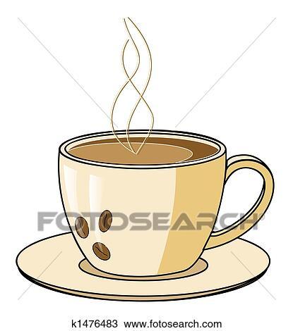 Dessin tasse caf a vapeur k1476483 recherchez - Dessin tasse a cafe ...