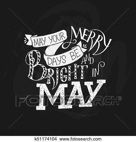 Cartão Cumprimento Com Frase Aproximadamente Maio