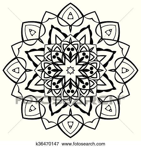 Vector simple mandala  Clip Art