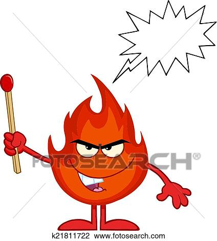 clipart of evil fire holding up a match stick k21811722 search rh fotosearch com evil clipart evil clipart