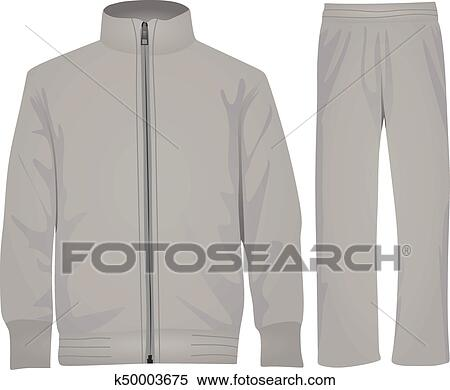 ace09afc19e0 Clipart of Grey tracksuit vector k50003675 - Search Clip Art ...