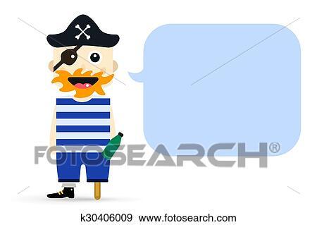 Zeeman Halloween.Halloween Kapitein Zeerover Karakter Kostuum Geisoleerde Vector Schaduwfiguur Clipart