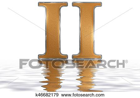 Stock Illustration Of Roman Numeral Ii Duo 2 Two Reflected On