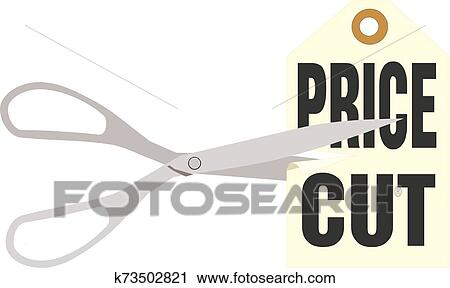 Vector Illustration - Price cutting label. EPS Clipart gg85069049 - GoGraph