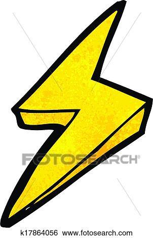 Clip Art Of Cartoon Lightning Bolt Symbol K17864056 Search Clipart