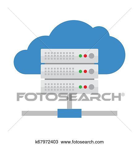 Cloud Server Vector Icon Clipart