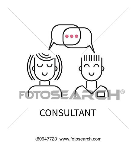 clipart of icon consultant support consultation k60947723 search