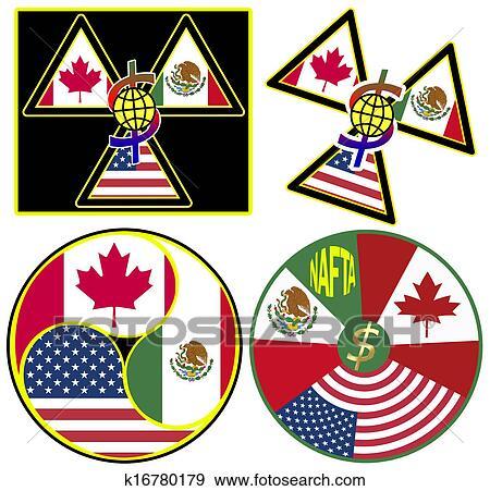 Stock Illustration Of Nafta Symbols K16780179 Search Vector