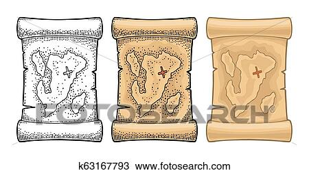Free Black And White Treasure Map, Download Free Clip Art, Free Clip Art on  Clipart Library