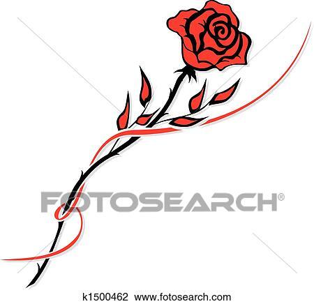 Clipart Rose Rouge K1500462 Recherchez Des Clip Arts Des