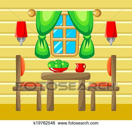 Captivant Clipart   Salle Manger, Interior.. Fotosearch   Recherchez Des Cliparts,  Des Illustrations