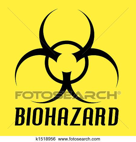 Stock Illustration Of Biohazard Symbol K1518956 Search Clip Art
