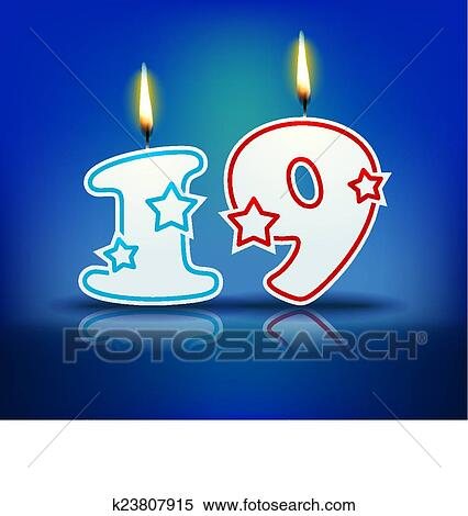 Birthday Candle Number With Flame