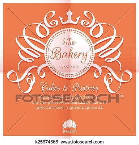 Carte Boulangerie.Retro Carte A Boulangerie Logo Etiquette Clipart K25674666