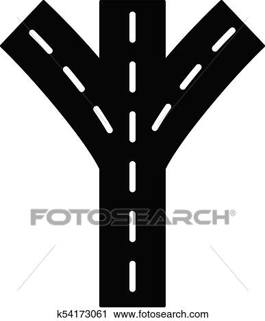 Straight Road Icon. Simple Illustration Of Straight Road Vector.. Royalty  Free Cliparts, Vectors, And Stock Illustration. Image 70987980.