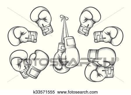 Boxing Gloves Vector Clipart K33571555 Fotosearch