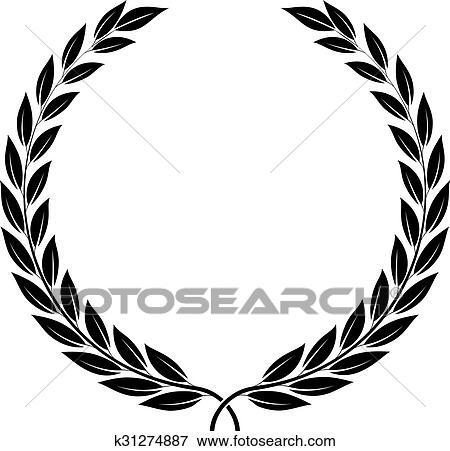 Clipart couronne laurier symbole de victoire et - Clipart couronne ...