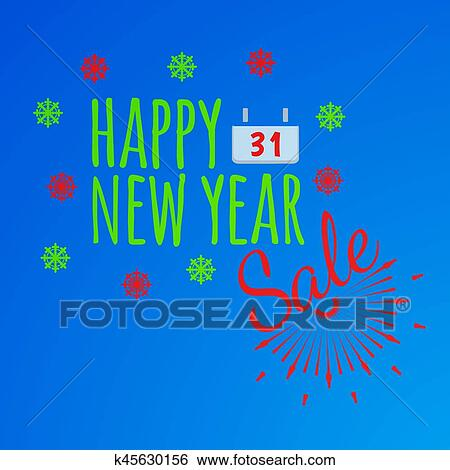 clip art happy new year banner and giftcard xmas poster and new year sale