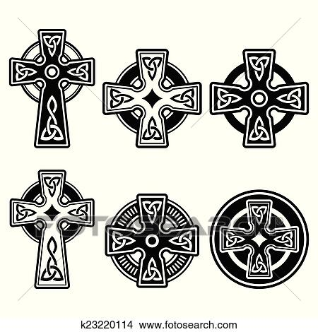 Clipart Of Irish Scottish Celtic Cross K23220114 Search Clip Art