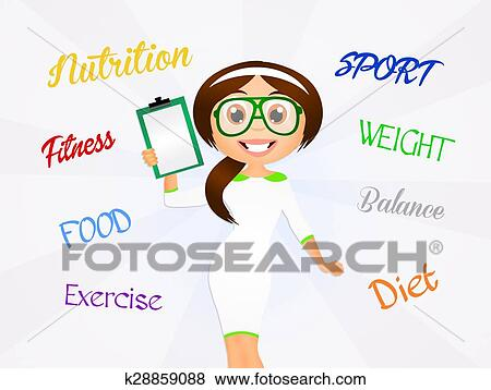 イラスト - 栄養学者. Fotosearch