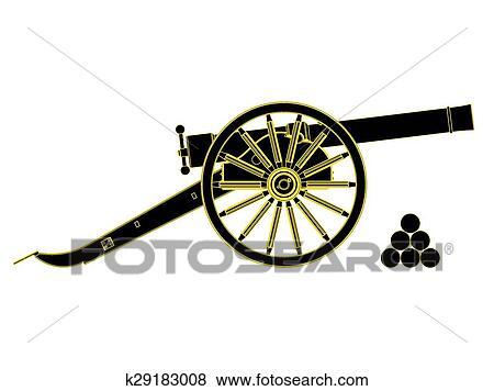 clip art of cannon 18 th century vector k29183008 search clipart rh fotosearch com cannon clip art free cannon clip art free