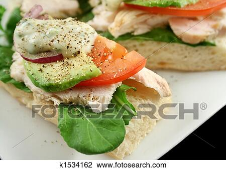 Stock Photo Of Chicken Finger Sandwich K1534162 Search Stock