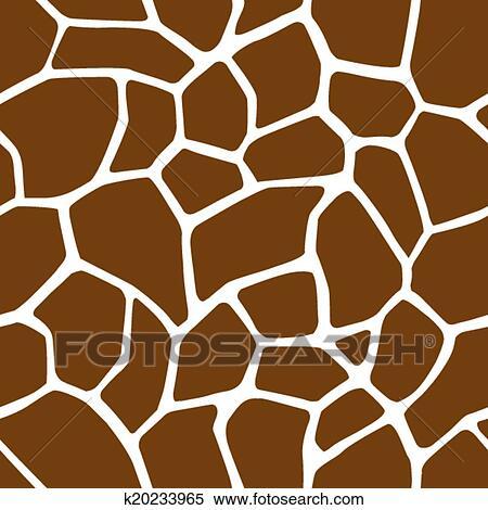 Clipart Of Giraffe Skin Seamless Pattern K40 Search Clip Art Interesting Giraffe Pattern