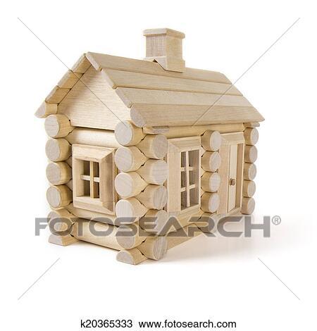 jouet maison bois isol blanc peu petite maison. Black Bedroom Furniture Sets. Home Design Ideas