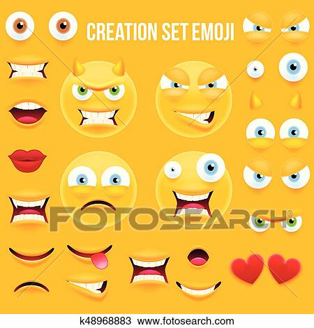 Smiley Face Character For Your Scenes Template Clipart