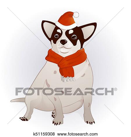 clip art chihuahua in a new year s cap fotosearch search clipart
