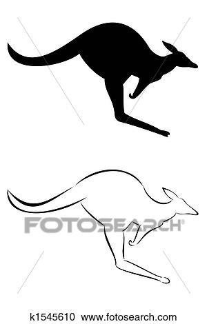 Kangaroo Stock Illustrations K1545610