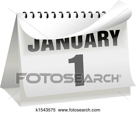 a new years day calendar turns a page to change the year month and day to january 1 and begin a new year