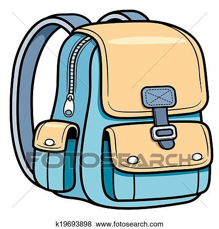 حقيبة مدرسية Clip Art K19693898 Fotosearch