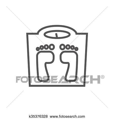 Bilancia, linea, icon  Clip Art