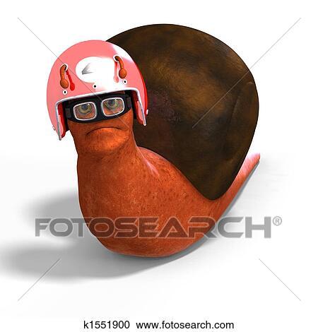 Cartone animato da corsa lumaca clipart k fotosearch