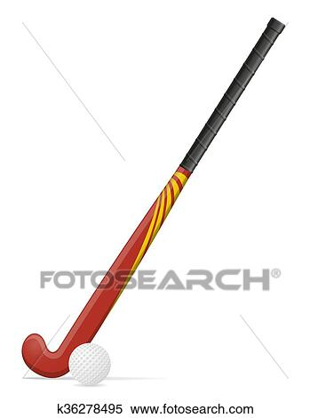 clipart of field hockey stick and ball vector illustration k36278495 rh fotosearch com ice hockey stick vector ice hockey stick vector