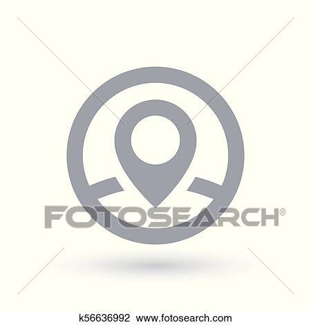 map pin icon location marker symbol clipart k56636992 fotosearch fotosearch