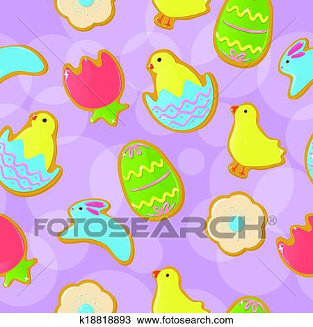 clipart of seamless easter cookie background k18818893 search clip