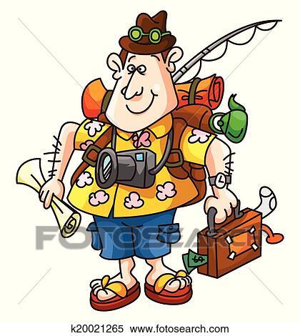 clipart of tourist funny cartoon k20021265 search clip art rh fotosearch com tourist clipart free tacky tourist clipart