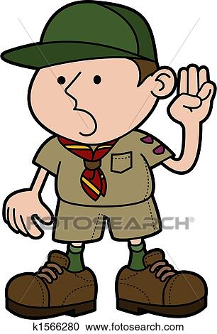 clipart of illustration of boy scout k1566280 search clip art rh fotosearch com eagle scout clipart images eagle scout clip art borders