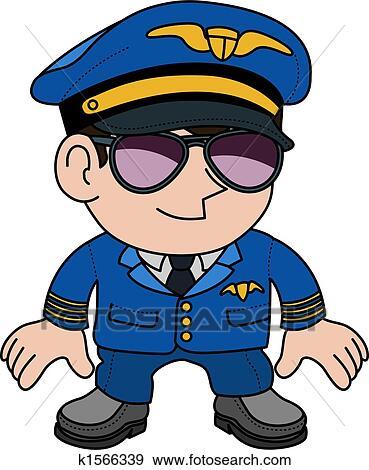 Illustration of pilot Clip Art   k1566339   Fotosearch