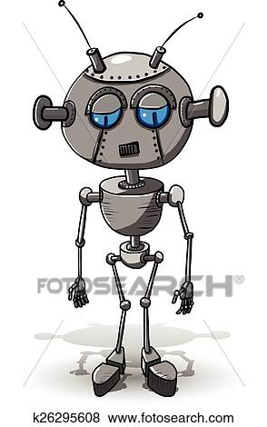 Klipart Melancholicky Robot K26295608 Prehľadavaj Klipart