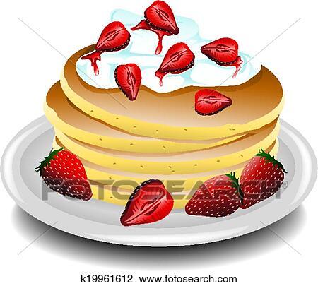 Pancake Strawberry Banana Clipart K19961612 Fotosearch